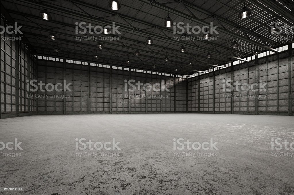 interior empty factory stock photo