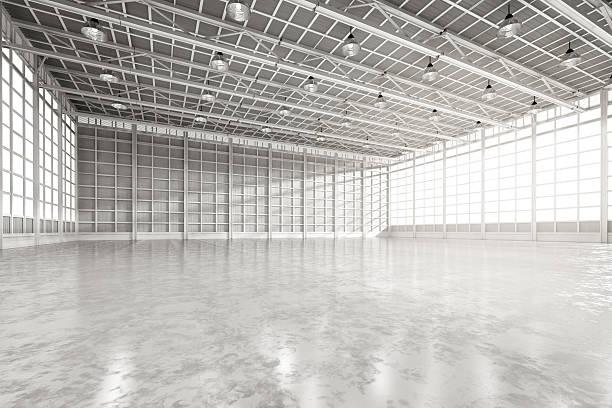 interior empty factory 스톡 사진