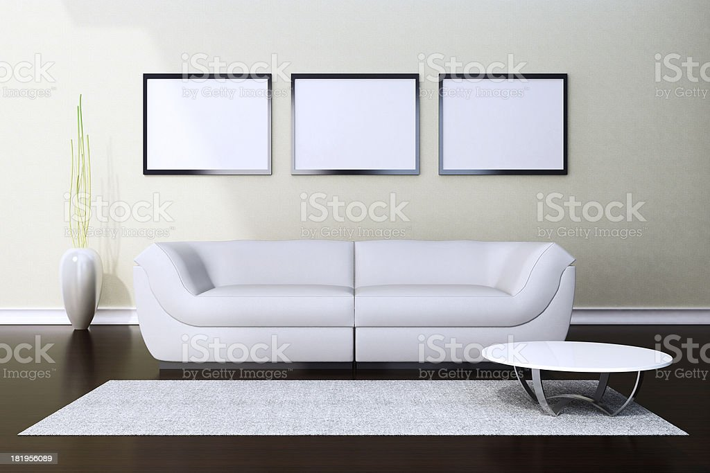 Interior Empty Pictures royalty-free stock photo