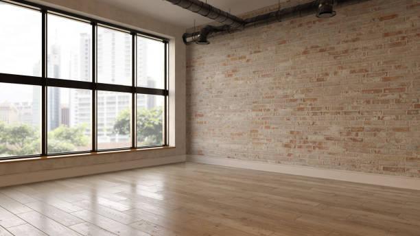 室內空房3d 渲染 - 無人 個照片及圖片檔