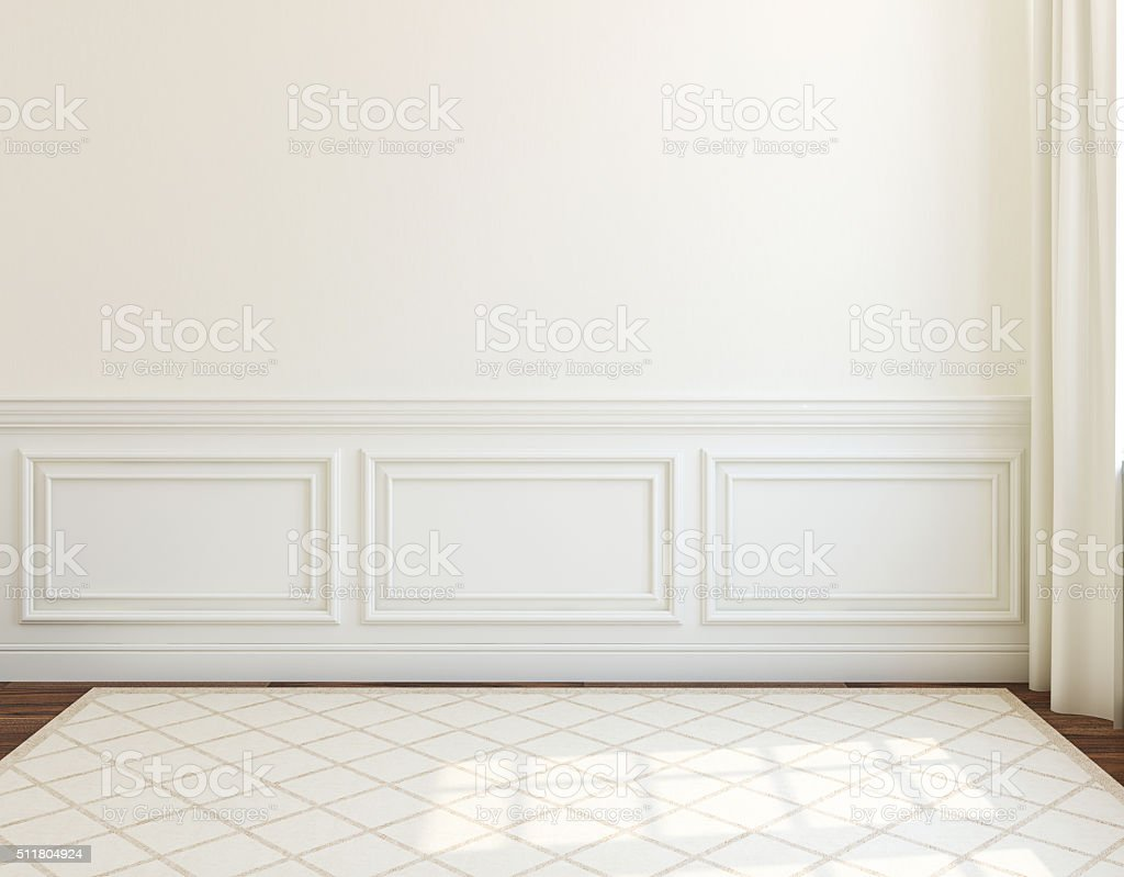 Interior. Empty room. 3d rendering. stock photo