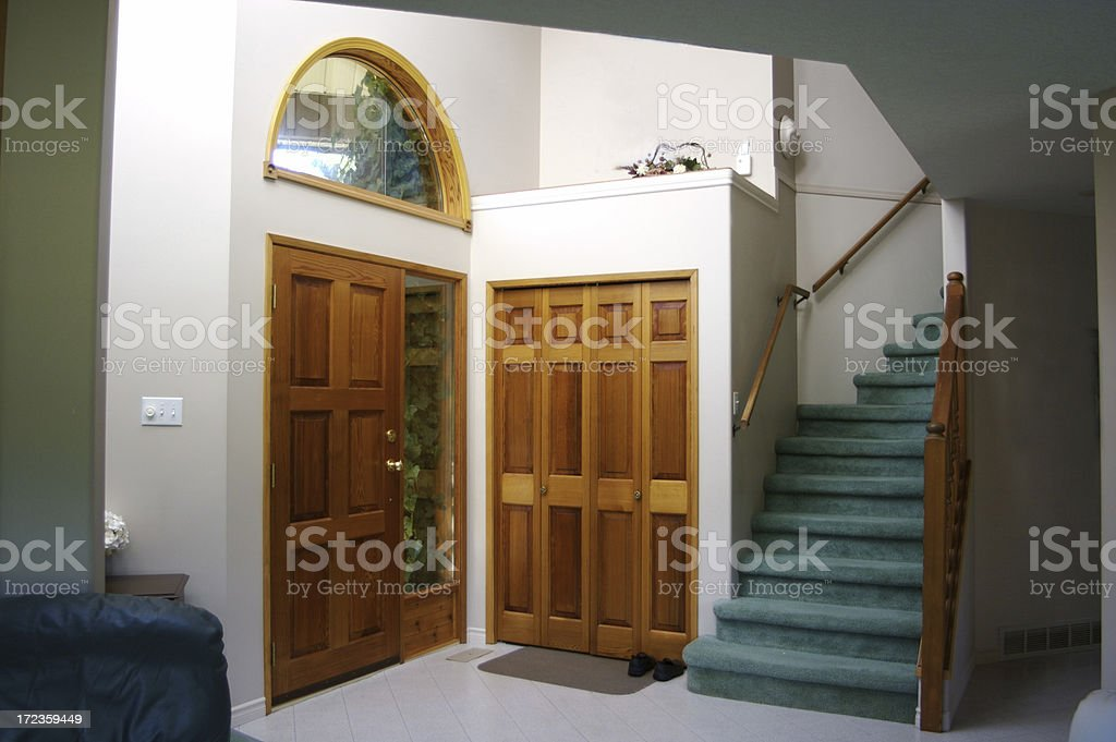 Interior Entrance to Modern Home royalty-free stock photo