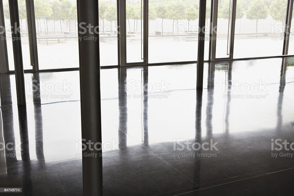 Interior floor and courtyard of modern office building royalty-free stock photo