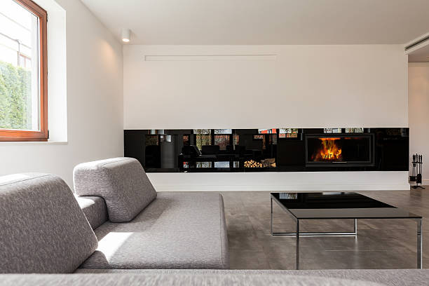 interior for those who believe less means more - couchtisch metall stock-fotos und bilder