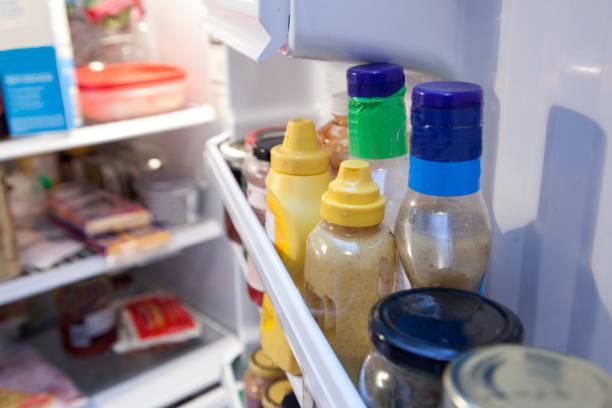 室內冰箱門 - 調味醬 個照片及圖片檔