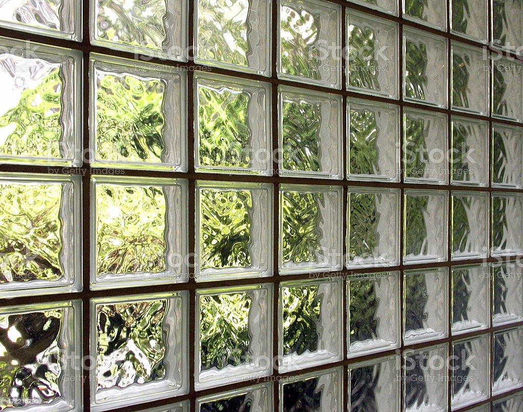 Interior - Glass blocks royalty-free stock photo
