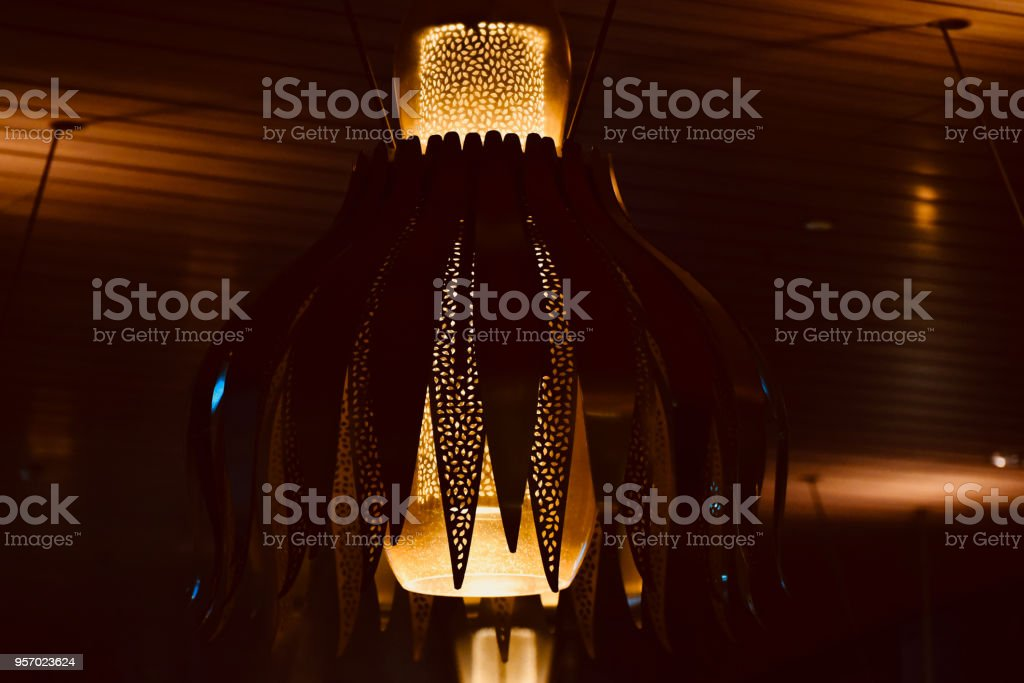 Interior hanging lights isolated object unique photo royalty-free stock photo