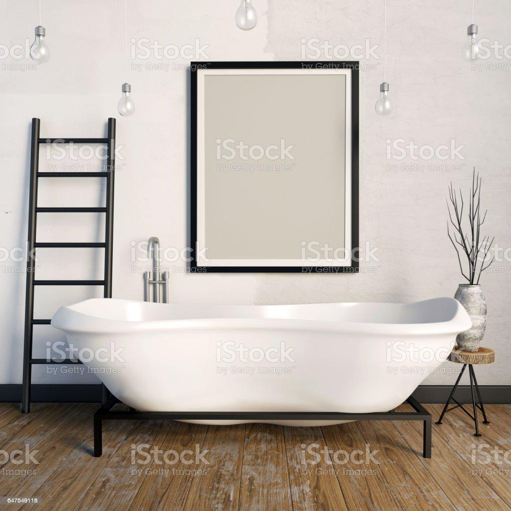 Salle De Bain Hipster ~ hipster int rieure int rieur de la salle de bain image simul e vers