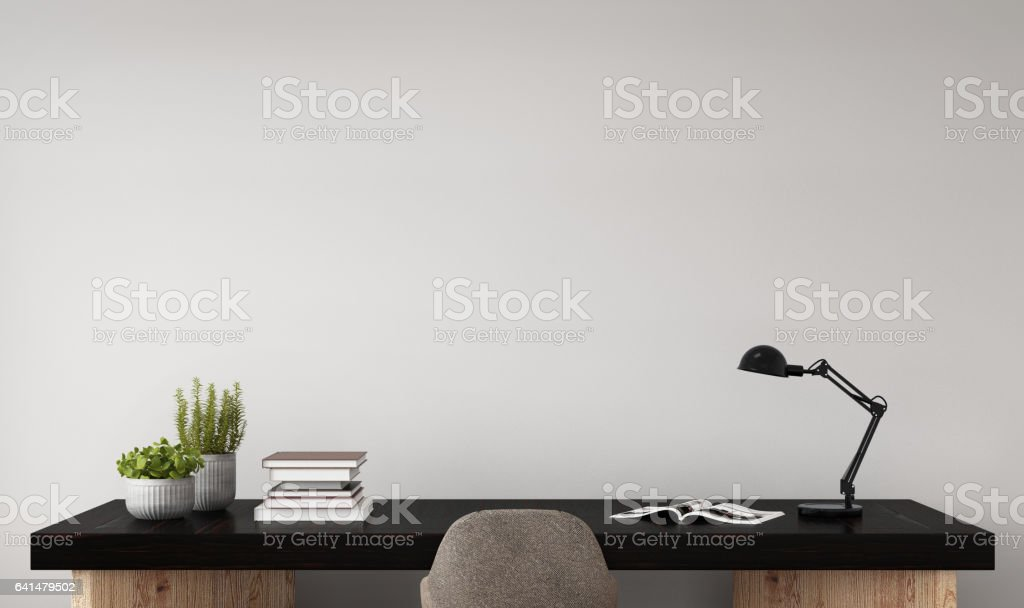 Interior hipster mock up wall background