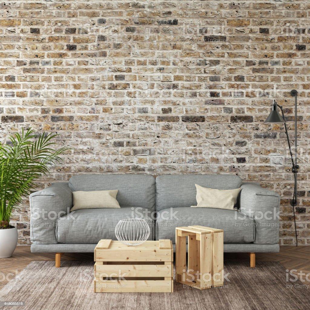 interior hipster mock up wall background stock photo. Black Bedroom Furniture Sets. Home Design Ideas
