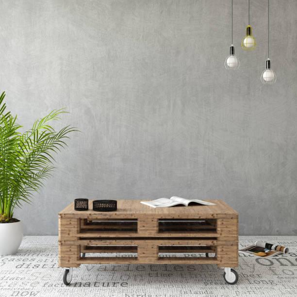 tabellenvorlage innere hipster-palette - graues büro stock-fotos und bilder