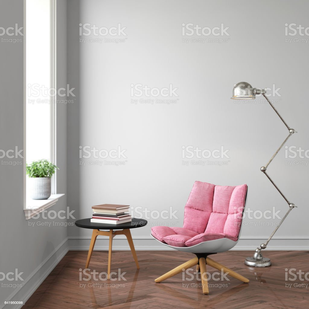 Interior hipster template wall stock photo