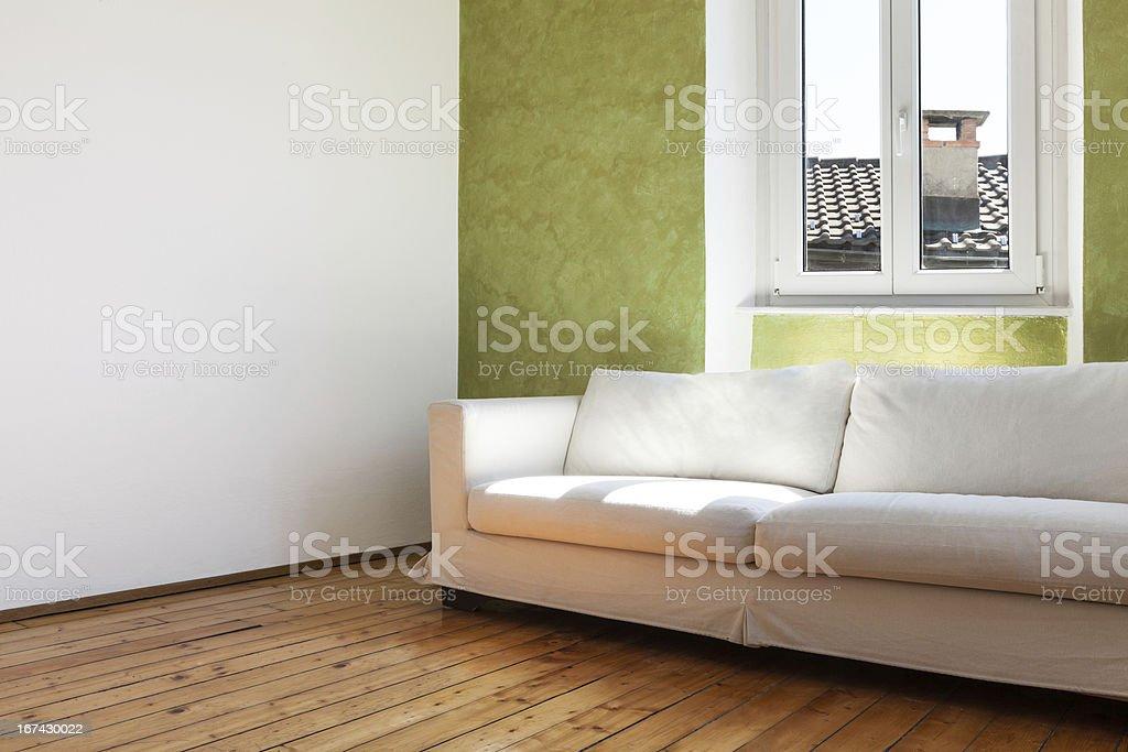 interior home, white divan royalty-free stock photo