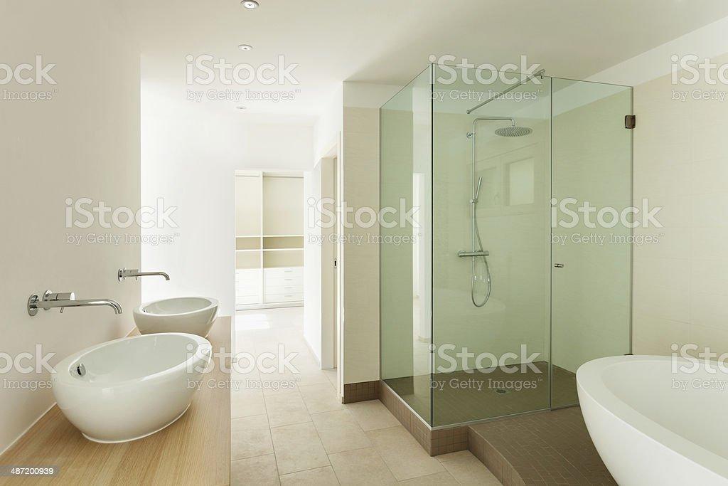 Interior house, bathroom stock photo