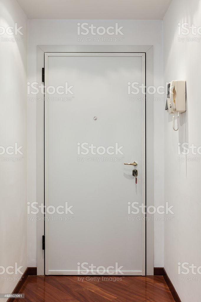 Interior House Entrance Door Stock Photo - Download Image ...