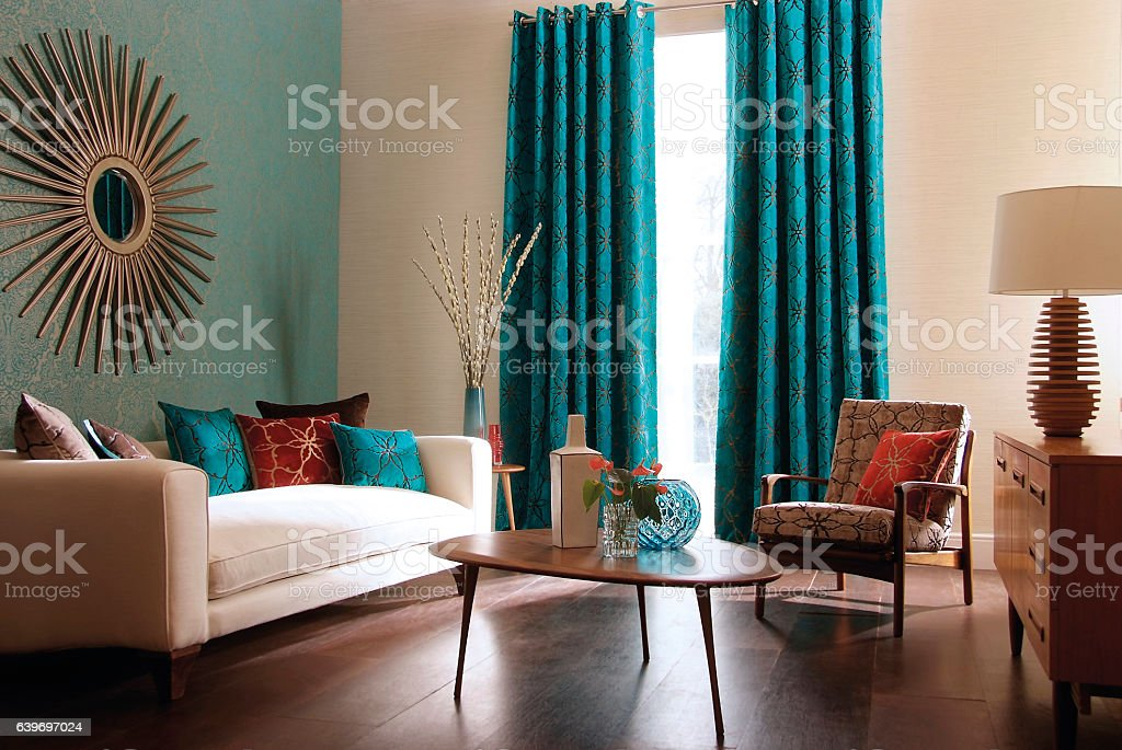 Interior image of a contemporary living room stock photo