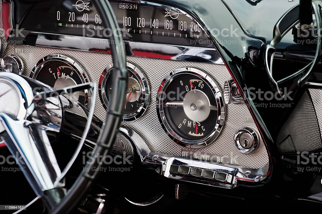 Interior image of a convertible stock photo