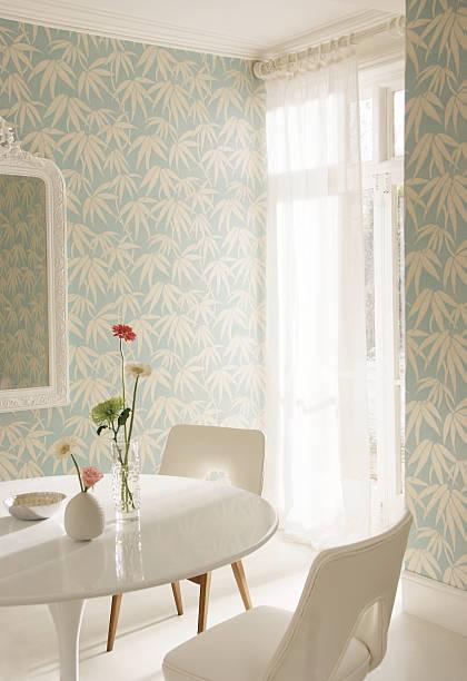 interior image of dining room - sessel türkis stock-fotos und bilder