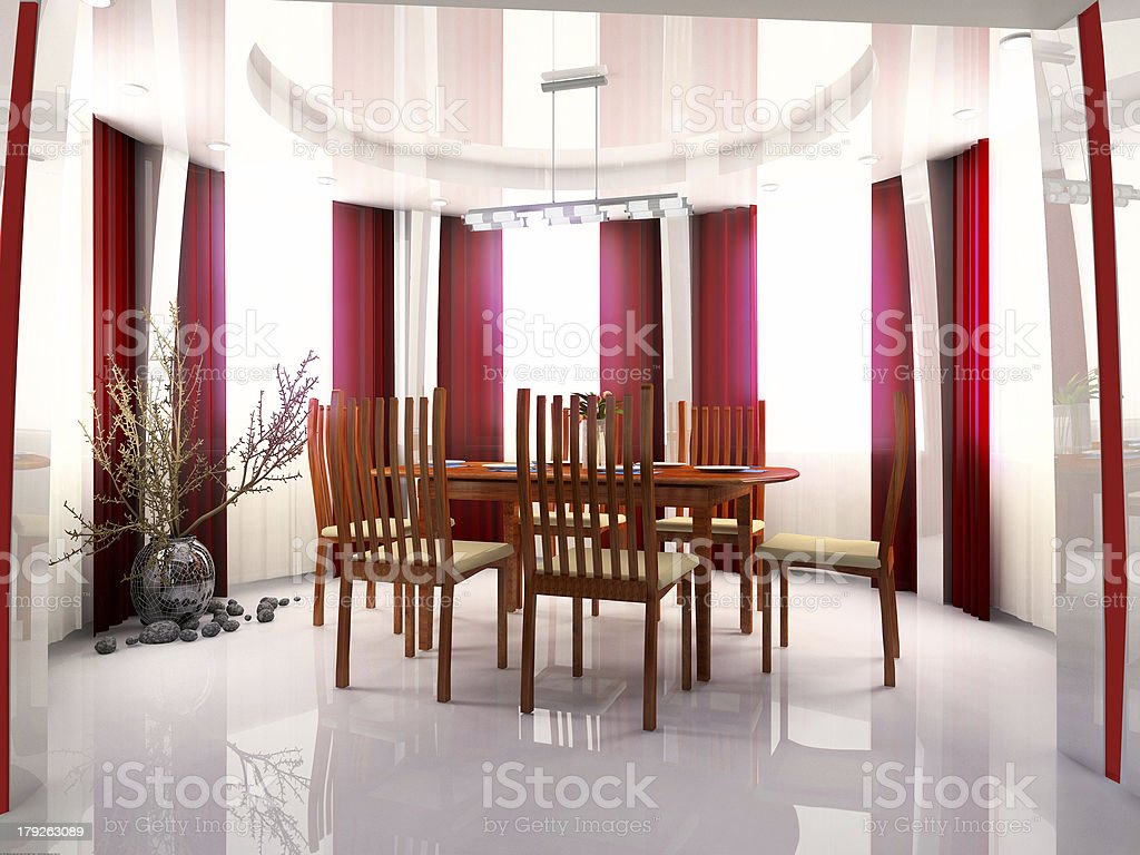 interior inhabited and working space royalty-free stock photo