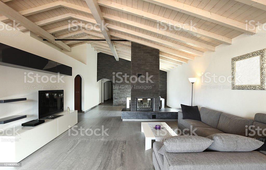 interior, large livingroom royalty-free stock photo