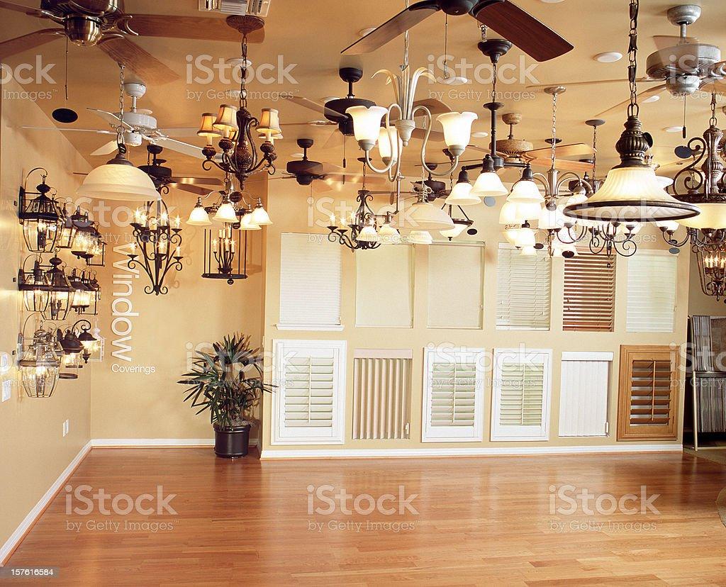 Interior LIghting Shutters Design Home stock photo