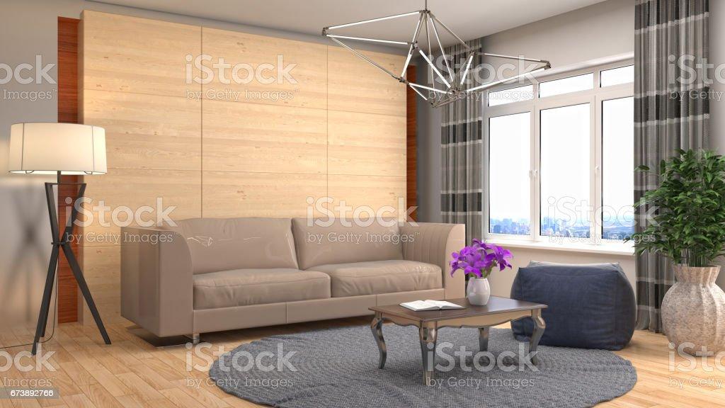 Interior living room. 3d illustration photo libre de droits