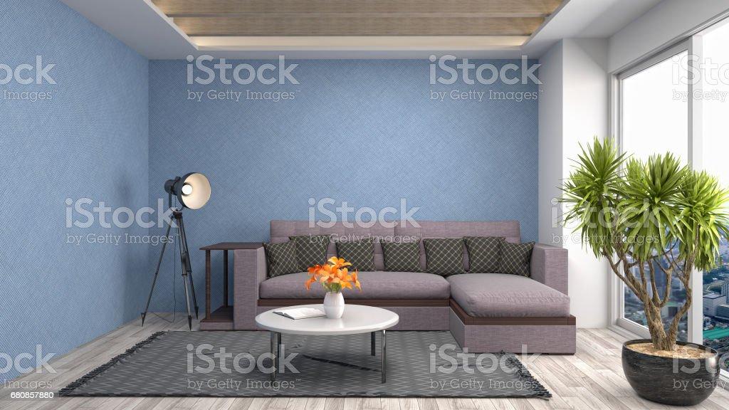 Interior living room. 3d illustration royalty-free stock photo