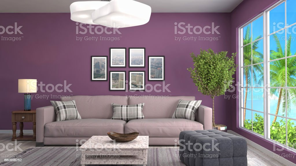 Interior living room. 3d illustration royalty-free stock photo