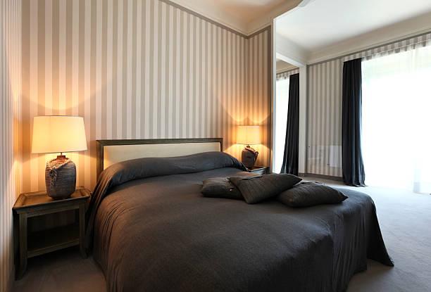 Innen Luxus-Wohnung, komfortabel Schlafzimmer – Foto