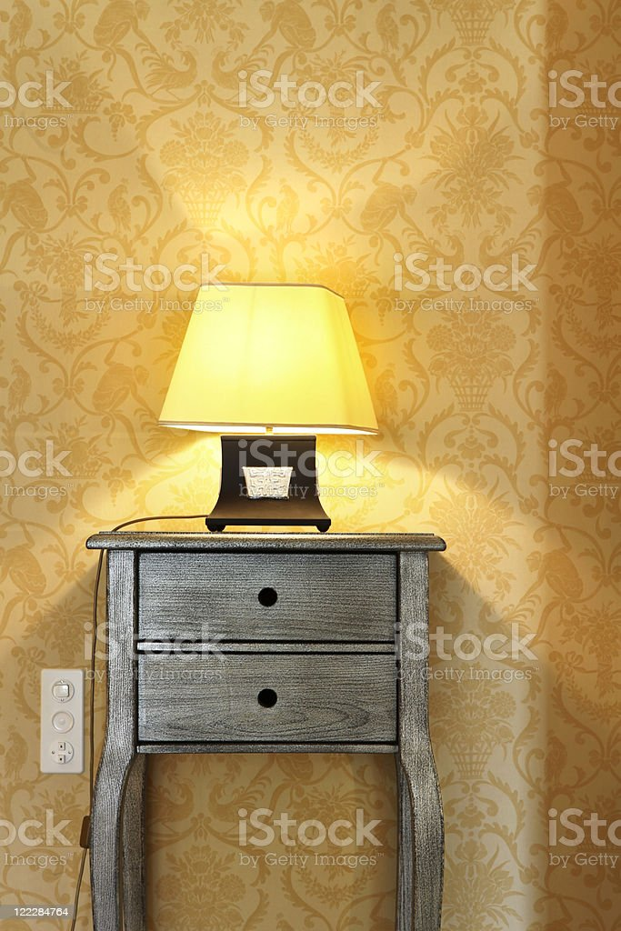 interior luxury apartment, detail room, table lamp royalty-free stock photo