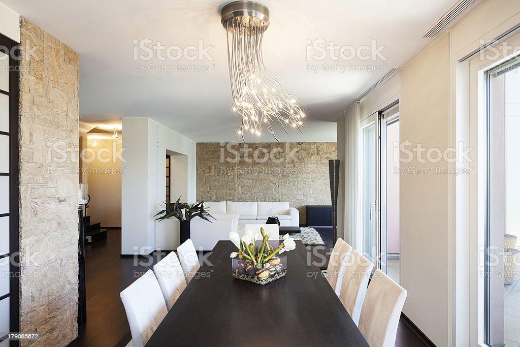 Tavoli Da Pranzo Di Lusso.Appartamento Di Lusso Interni Tavolo Da Pranzo Fotografie Stock E