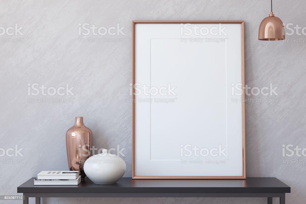 Interior mock up stock photo