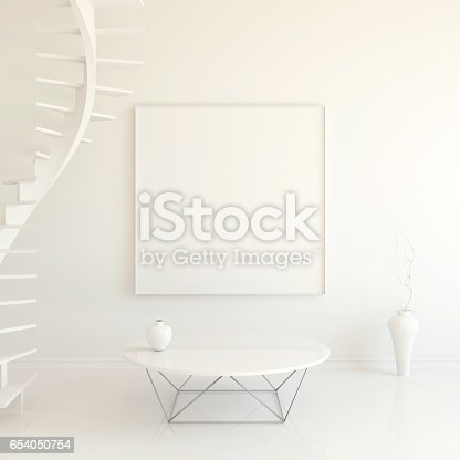 istock Interior mockup 3d 654050754