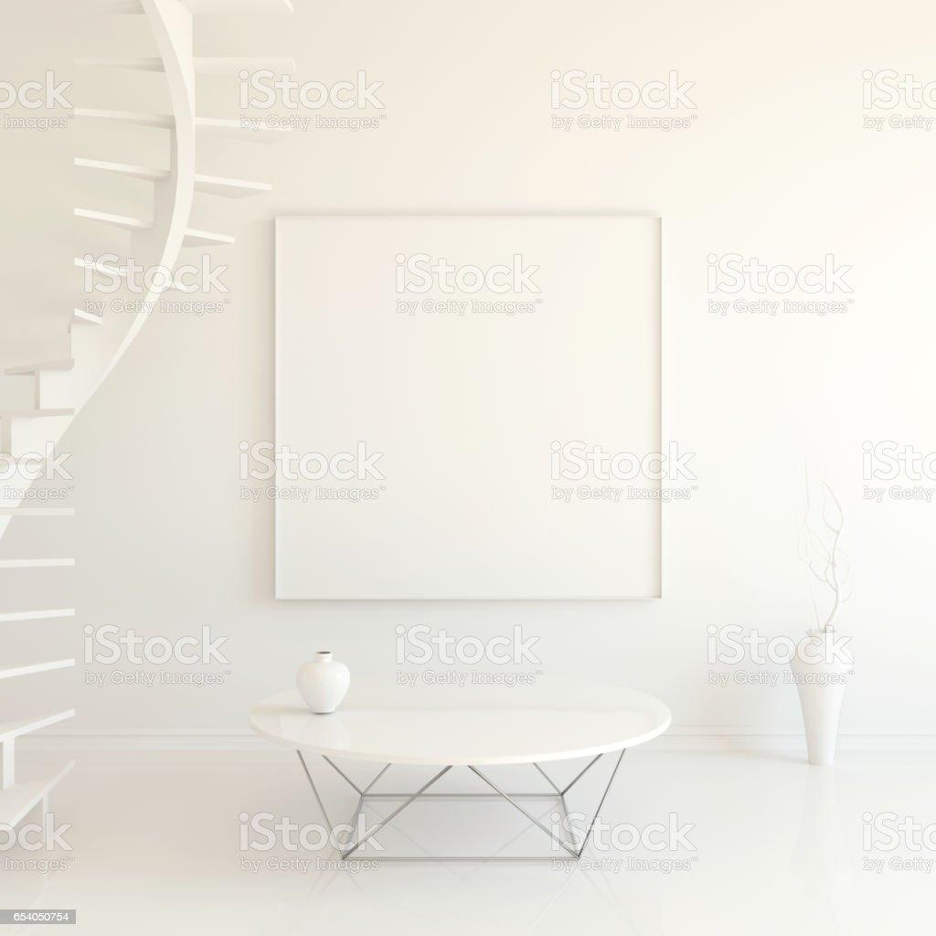 Interior mockup 3d stock photo