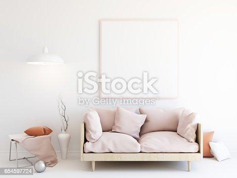 istock Interior mockup 3d 654597724
