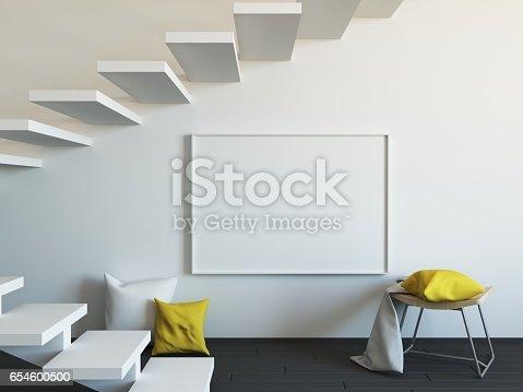 654050754istockphoto Interior mockup 3d 654600500