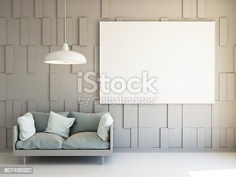 654050754istockphoto Interior mockup 3d 807405032