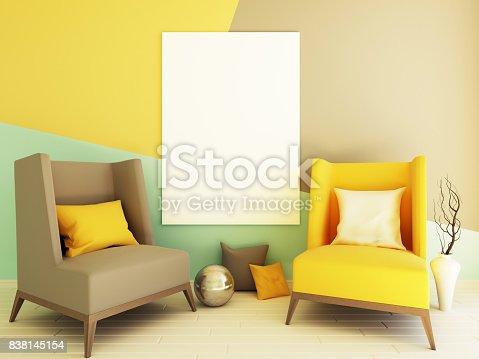 istock Interior mockup 3d 838145154