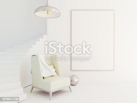 istock Interior mockup 3d 929941708