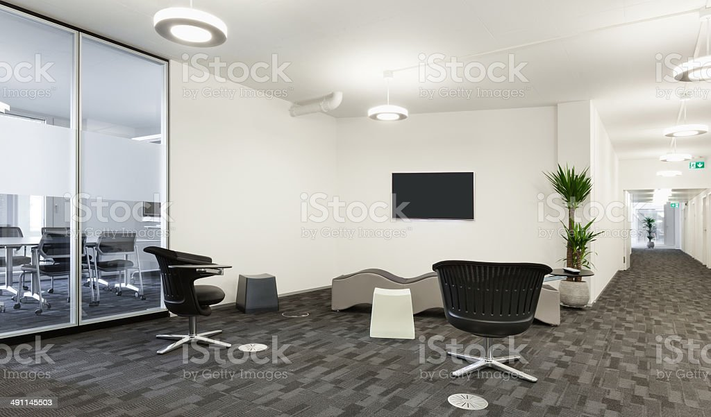 Interior, modern building stock photo
