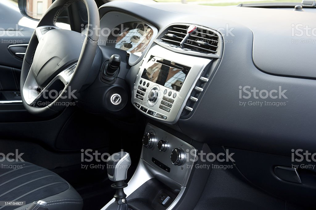 Interior modern car stock photo
