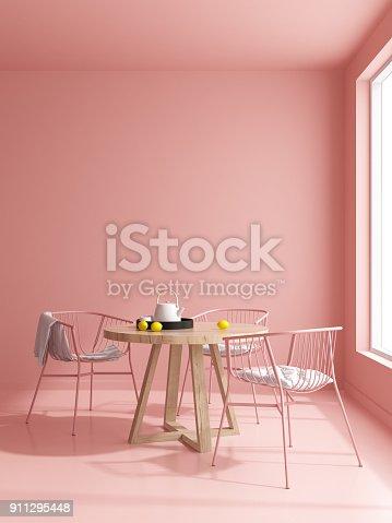 istock Interior modern design room 3D illustration 911295448