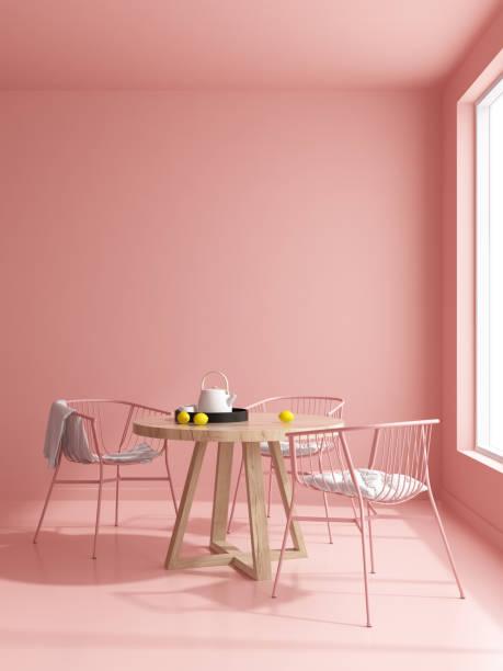 interior modern design room 3d illustration - kitchen room foto e immagini stock