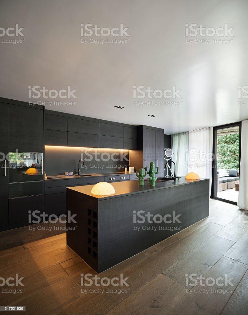 Interior, Modern kitchen stock photo