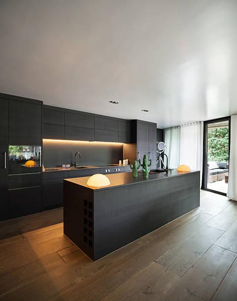 interior, modern kitchen - looking inside inside cabinet bildbanksfoton och bilder