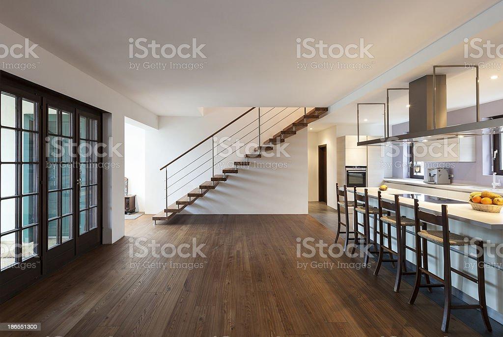 Interior modern loft stock photo