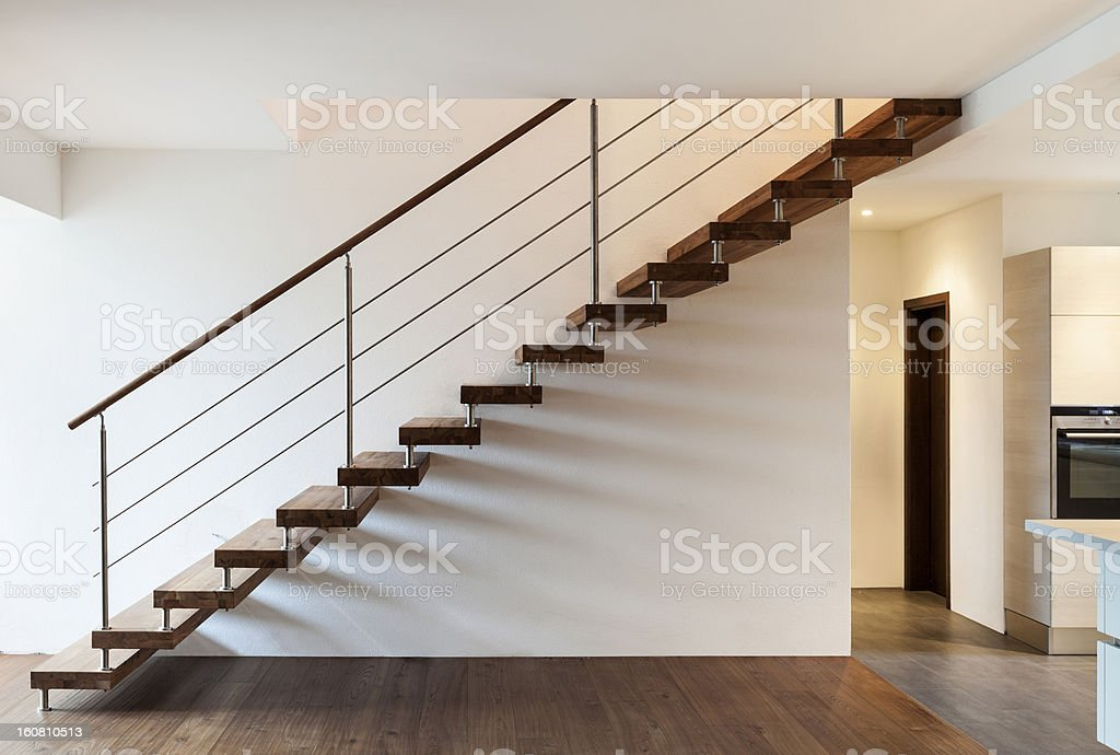 Interior, modern loft, staircase view royalty-free stock photo