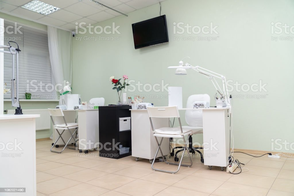 Interior Nail Salon And Manicurist Jobs In Spa Salon Stock Photo Download Image Now Istock