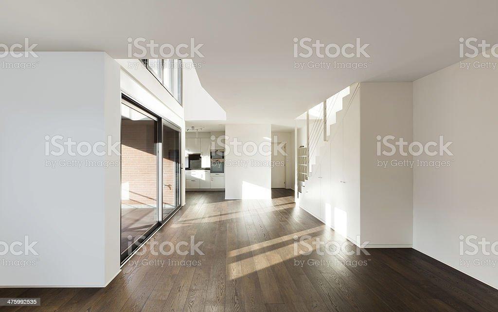 Interior new house stock photo