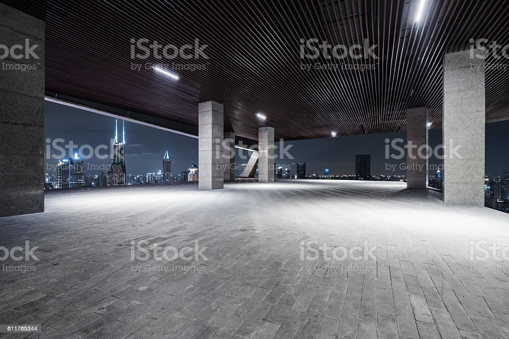 Interior Night of ShangHai stock photo